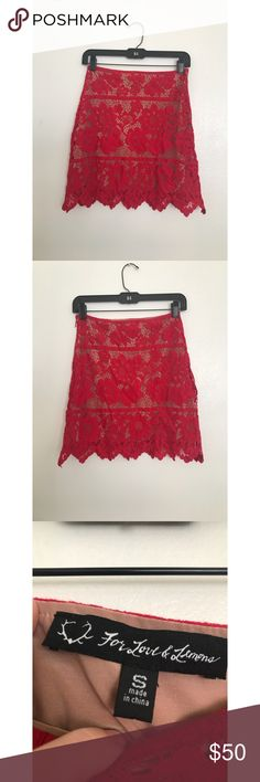 a4c68337cc For love   lemons Skirt size S In perfect condition. For Love And Lemons  Skirts Mini
