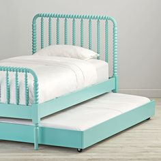 Shop Teal Jenny Lind Trundle Bed. Our Jenny Lind Trundle Bed (Teal) doubles as an extra bed for sleepovers or underbed storage when space is limited.