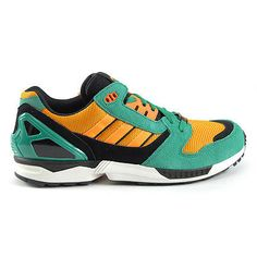 Adidas ZX 8000 Fresh Green/Zest/White Sneakers Shoes D65459 NEW