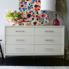 City Storage 6-Drawer Dresser - White | west elm - maybe inside Steve's closet?