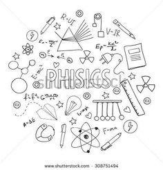 Vector Fisica stock-vector-hand-drawn-vector-set-with-school-equipment-physics-lesson-can-be-u. Notebook Covers, Binder Covers, Physics Lessons, School Equipment, Page Decoration, School Notebooks, School Subjects, School Notes, Science Art