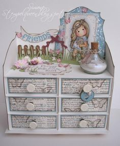 Cute Magnolia Drawer-Box by StempelQueen - Cards and Paper Crafts at Splitcoaststampers