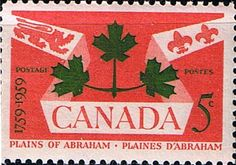 Canada 1959 Battle of Plains of Abraham Fine Mint SG 514 Scott 388 Other British Commonwealth Stamps for Sale Here