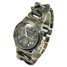 Discount Michael Kors OUTLET Online Sale!! | See more about black watches, chain links and michael kors.