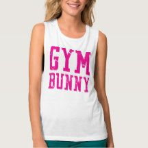 Gym Bunny Easter Pink Tank Top