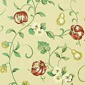Behang: A Painters Garden, Pear & Pomegrante teal/cherry Snaderson