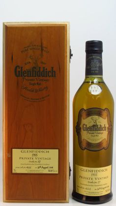 Glenfiddich - Private Vintage - 1955 60 year old Good Whiskey, Scotch Whiskey, Bourbon Whiskey, Alcoholic Drinks, Cocktails, Single Malt Whisky, Wine And Liquor, Bottle Packaging, Distillery
