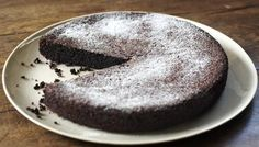 "Chocolate Olive Oil Cake by Nigella Lawson, who says: ""I first came up with this recipe because I had someone coming for supper who – genuinely couldn't eat wheat or dairy, it is so meltingly good, I now make it all the time for those whose life and diet are not so unfairly constrained, myself included."""