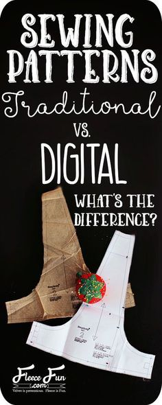 Traditional sewing patterns vs. digital sewing patterns. I love how this article clearly points out the differences between the two. Great tutorial about DIY sewing project. More projects to make your own clothes at http://www.sewinlove.com.au/tag/free-sewing-pattern/
