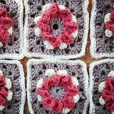 Come fare mattonella a uncinetto Rose Blooming di Annoos Crochet - Tutorial