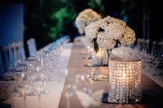 wedding reception, weddind dinner, cnadles, table setting, flowers centerpiece, white flowers, Cilento Coast, Sposa Mediterranea, Olga studio