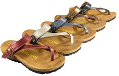 Our most popular sandal for Spring 2013, the Santa Maria in metallics.  California Footwear Co.
