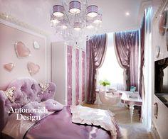 Детская Комната Маленькой Принцессы: Стиль ар деко в интерьерах детских комнат от Luxury Antonovich Design неизменно обладает особым очарованием и праздничным настроением. И особенно это отраж