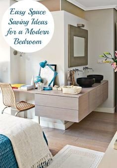 Top Tips on how to make the most of your small bedroom.. link for some wonderful ideas:   http://lovechicliving.co.uk/easy-space-saving-ideas-modern-bedroom/