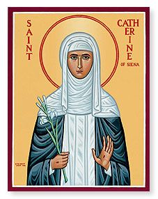 April 29: St Catherine of Siena | Monastery Icons - St. Catherine of Siena