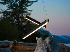 Retta - Our linear LED light shot on the shores of BC's beautiful Harrison Lake, the source of this lights inspirations. Linear Lighting, Lighting Design, Light Architecture, Pendant Design, Bespoke, Interiors, Led, Lights, Interior Design