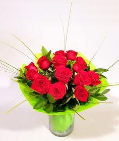 Bouquet Box, Red Rose Bouquet, Red Roses, Bouquets, Boxes, Vase, Flowers, Plants, Crates
