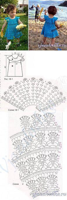 27 trendy Ideas for crochet dress girl tutorials Crochet Kids Hats, Crochet Toddler, Crochet Baby Clothes, Crochet Cowl Free Pattern, Knitting Patterns, Knit Crochet, Crochet Patterns, Crochet Ideas, Crochet Dress Girl