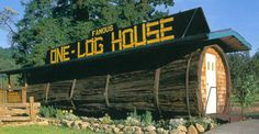 One Log House, Garberville, California, USA
