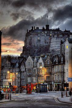 Edinburgh Castle, Scotland, from Grassmarket   <3