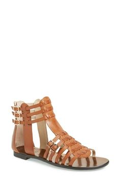 Love this tan Vince Camuto caged sandal for summer!