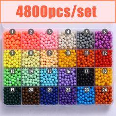 24色水アクアビーズおもちゃスティッキーperlerビーズフックボードセットヒューズビーズジグソーパズル水beadbond知育玩具diy子供