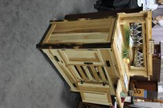 This cabinet set would be excellent to store our wine. We just went to a couple of wineries around Wimberly, TX and realized we needed more room for our bottles. Furniture Board, Solid Wood Furniture, Furniture Making, Cool Furniture, Wineries, Made In America, American Made, Home Decor Accessories, My Dream Home