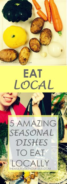 Eating seasonally is easy! It's even easier if you eat locally as well! See how I do this with my CSA share veggies! http://www.themultitaskingmissus.com/5-amazing-seasonal-dishes-eat-locally/?utm_campaign=coschedule&utm_source=pinterest&utm_medium=The%20Multitasking%20Missus&utm_content=5%20Amazing%20Seasonal%20Dishes%20to%20Eat%20Locally