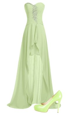 """Light green"" by hungergames11 ❤ liked on Polyvore featuring Brian Atwood"