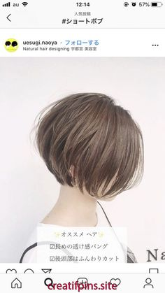 Asian Short Hair, Short Straight Hair, Short Hair With Layers, Short Hair Cuts For Women, Teen Girl Hairstyles, Long Pixie Hairstyles, Pixie Cut Color, Gorgeous Hair Color, Shot Hair Styles