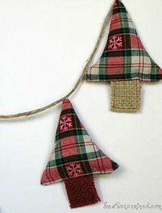 Fabric & burlap DIY ornament tutorial