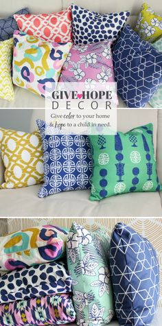 A line of home textiles, pillows and wallpaper that supports foster children.