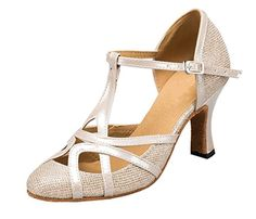 TDA Womens Mid Heel PU Leather Salsa Tango Ballroom Latin Party Dance Shoes CM101 -- You can find out more details at the link of the image.