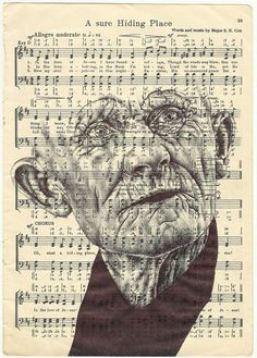 If It's Hip, It's Here: New Bic Ballpoint Pen Portraits On Ephemera By Artist Mark Powell