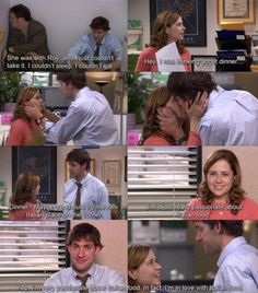"""When Jim is really passionate about Italian food.and Pam. 27 Of The Cutest Jim And Pam Moments From """"The Office"""" The Office Jim, The Office Show, Office Quotes, Office Memes, Parks N Rec, Parks And Recreation, Jim Pam, Collateral Beauty, John Krasinski"""