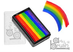True Rainbow Arty Brush Cake