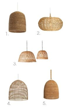 #1 The Best List: Basket Light Fixtures - Megan Bachmann Interiors