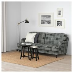 Freshen up your home with STOCKSUND Sofa, Segersta multicolor. Brown Wood, Black Wood, Sofa Legs, Couch, Ikea Sortiment, Ikea Stocksund, Rustic Sofa, Unique Sofas, Ikea Family