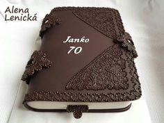 Dort marcipánový * narozeninový - kniha, hezké ♥ Fudge Cake, Pie Cake, Brownie Cake, No Bake Cake, Chocolate Caramels, Chocolate Ganache, Cake Cookies, Cupcake Cakes, Custard Cake
