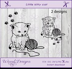 Line art svg Kitten svg cat svg Little cat svg pets svg