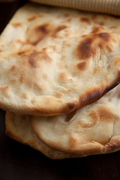 Homemade Naan Bread. Great with Chicken Curry!