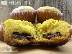 muffins sofficissimi Pancake Muffins, American Cake, Love Cupcakes, Nutella Recipes, Sweet Cakes, Muffin Recipes, Cake Cookies, Food To Make, Easy Meals