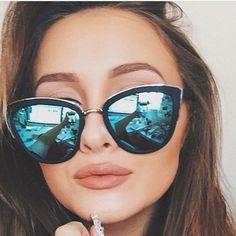494d38dc6f Nwt My Girl Black Green Mirror Cateye Sunglasses Girl With Sunglasses