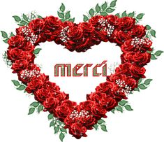 Gifs Merci (374) Images Gif, Love Images, Merci Gif, Beau Gif, Heart Wallpaper, 4th Of July Wreath, Christmas Wreaths, Holiday Decor, Flowers