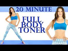 Full Body Tone & Stretch 20 Minute Workout – Ballet Inspired For Beginners At Home - YouTube