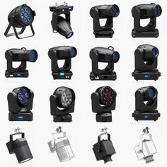 Stage Lighting Collection (14 Pieces) royalty-free 3d model - Preview no. 1