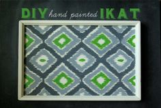 DIY hand painted Ikat - YouTube Video instructions