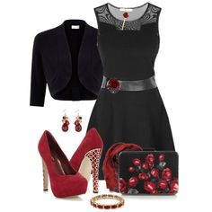 Blood Red Roses, created by simona-risi on Polyvore