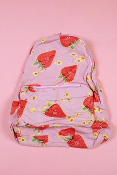 Awesome strawberry print backpack