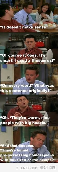 Oh the beauty of the English language... XD I don't watch/approve of this show, but this is funny. :)